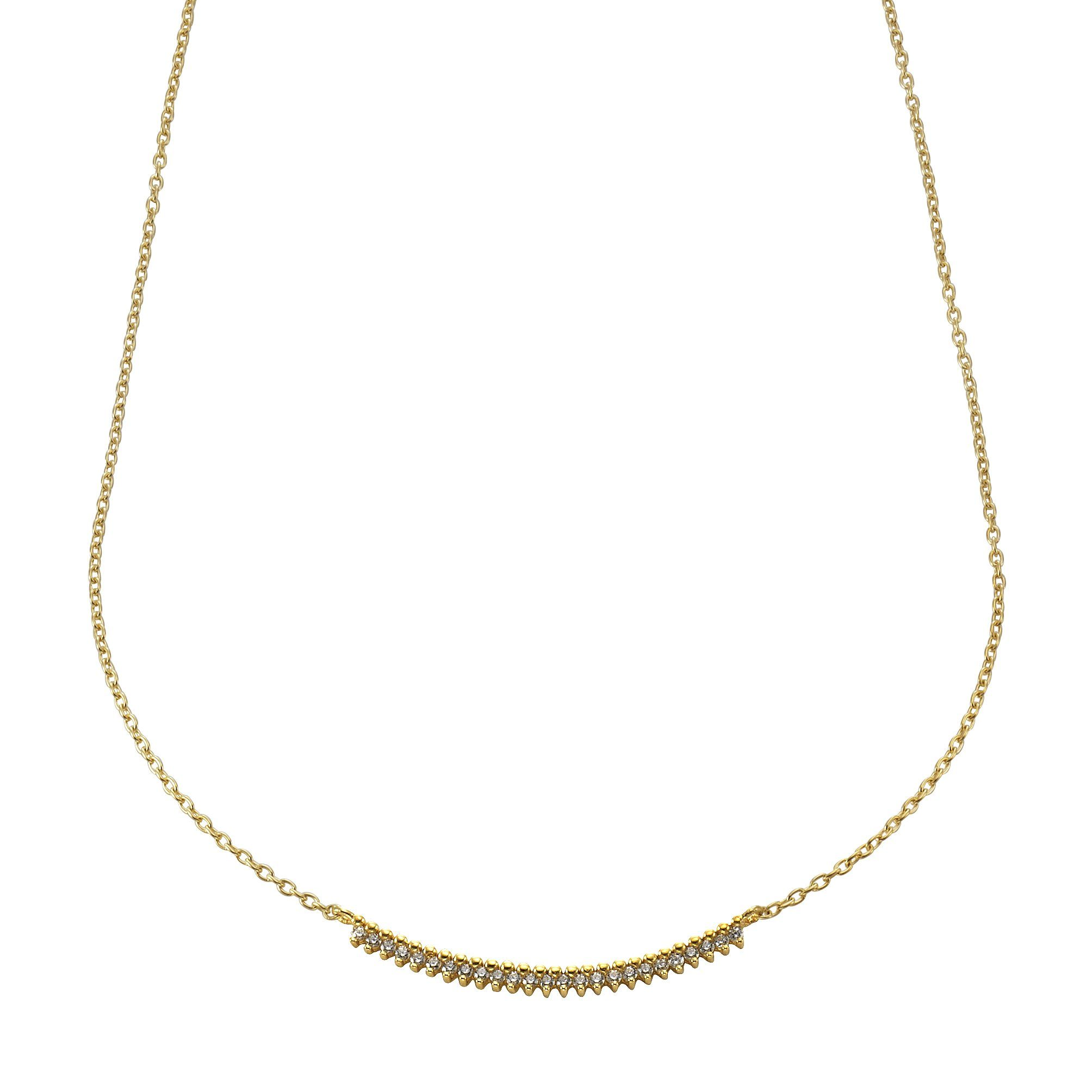 Jacques Lemans Collier 375/- Gold mit Zirkonia
