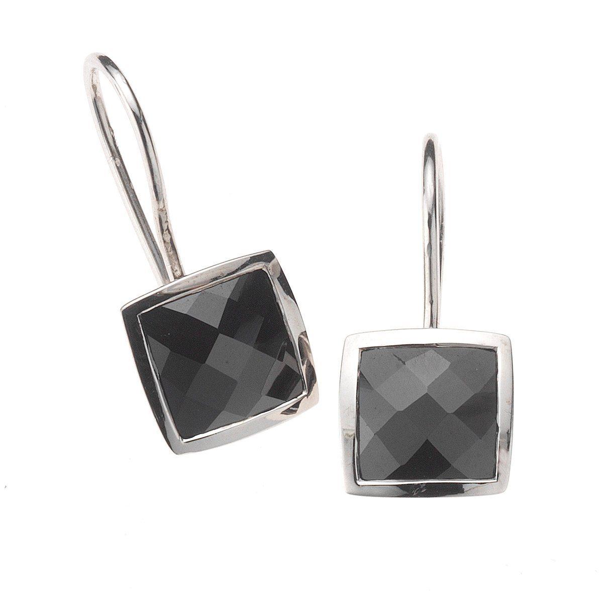 Zeeme Ohrhänger »925/- Sterling Silber Zirkonia schwarz«