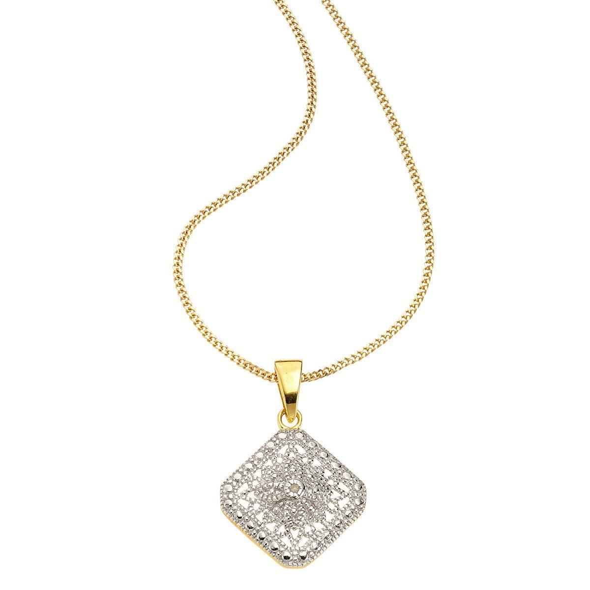 Diamonds by Ellen K. Anhänger mit Kette »925/- Sterling Silber Diamant 0,01ct.«