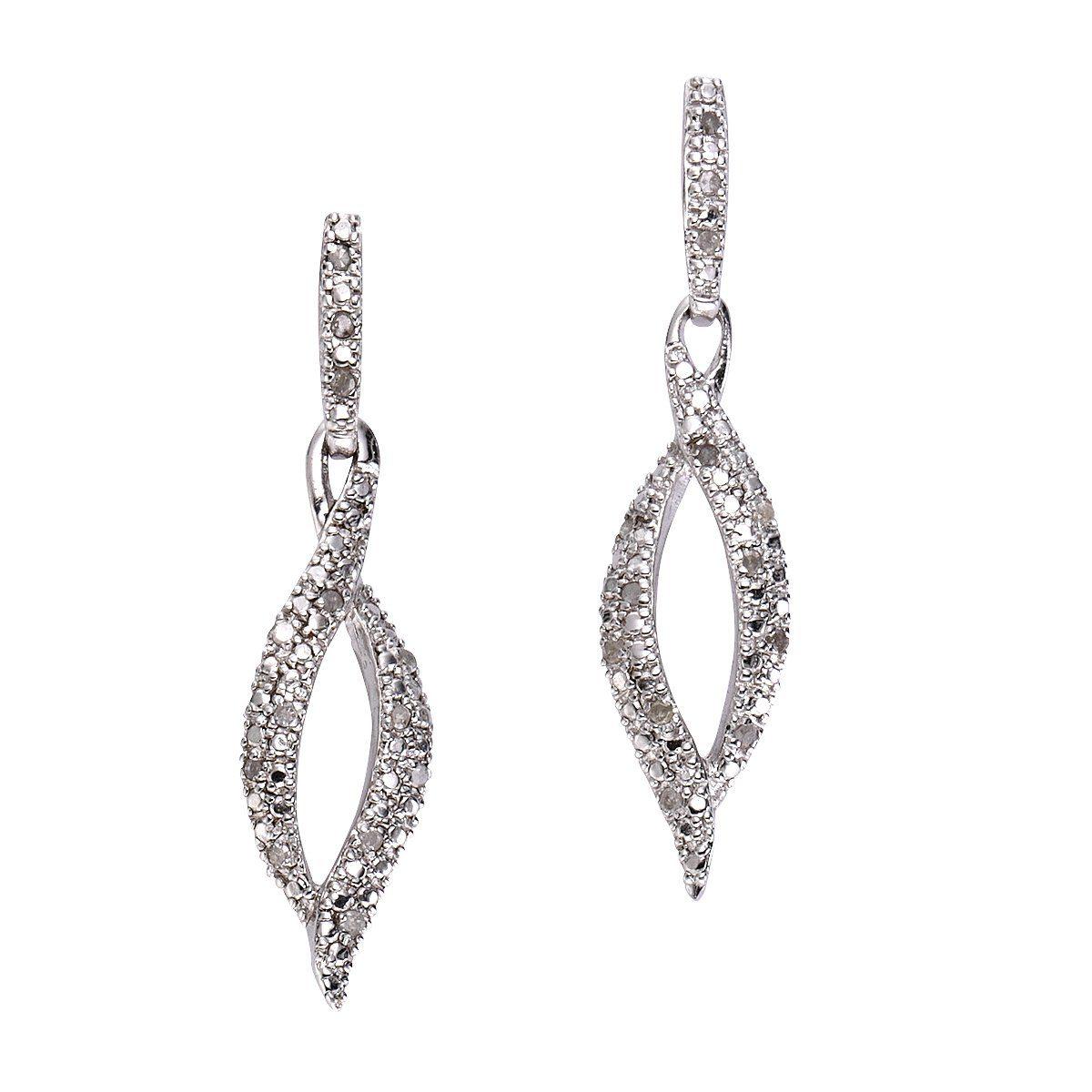 Diamonds by Ellen K. Ohrhänger »925/- Sterling Silber Diamant 0,26ct.«