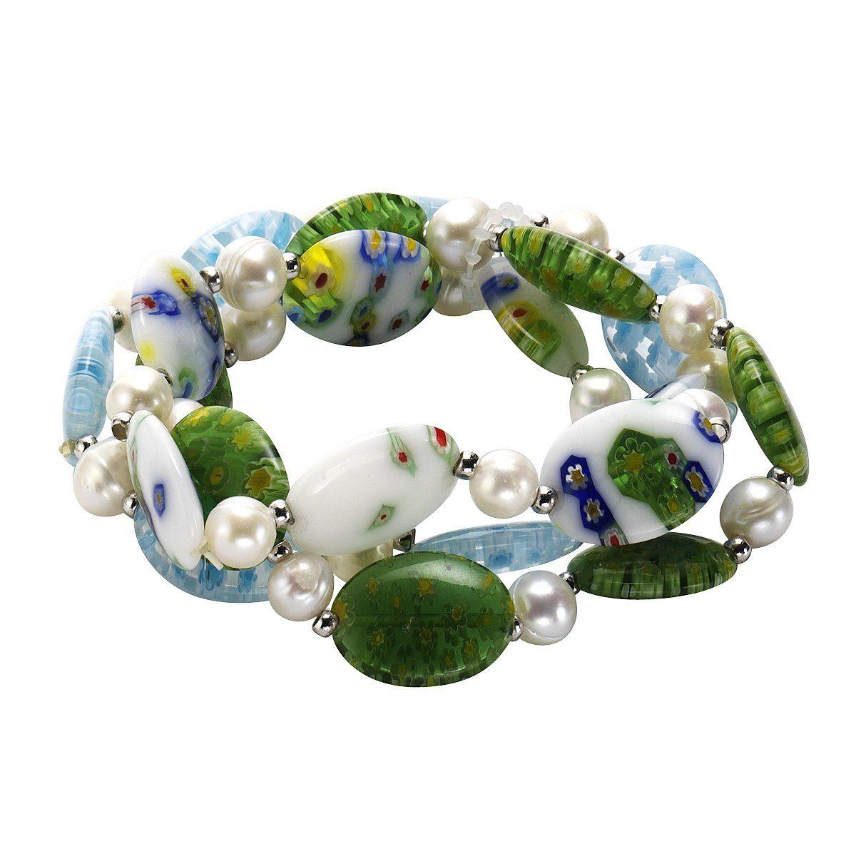 Zeeme Armband »syn. Murano Glas Perle weiß«