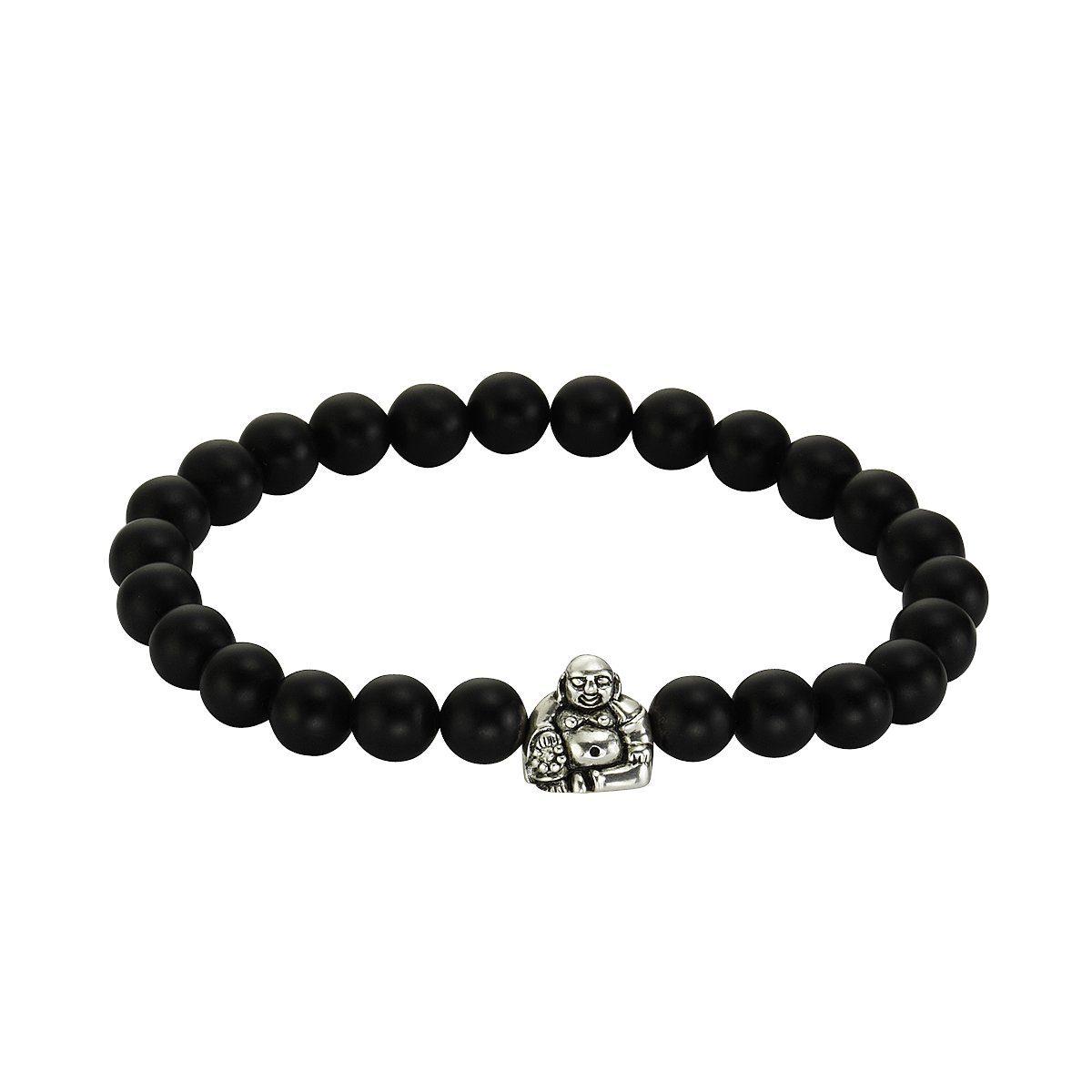 Zeeme Armband »925/- Sterling Silber Achat schwarz«
