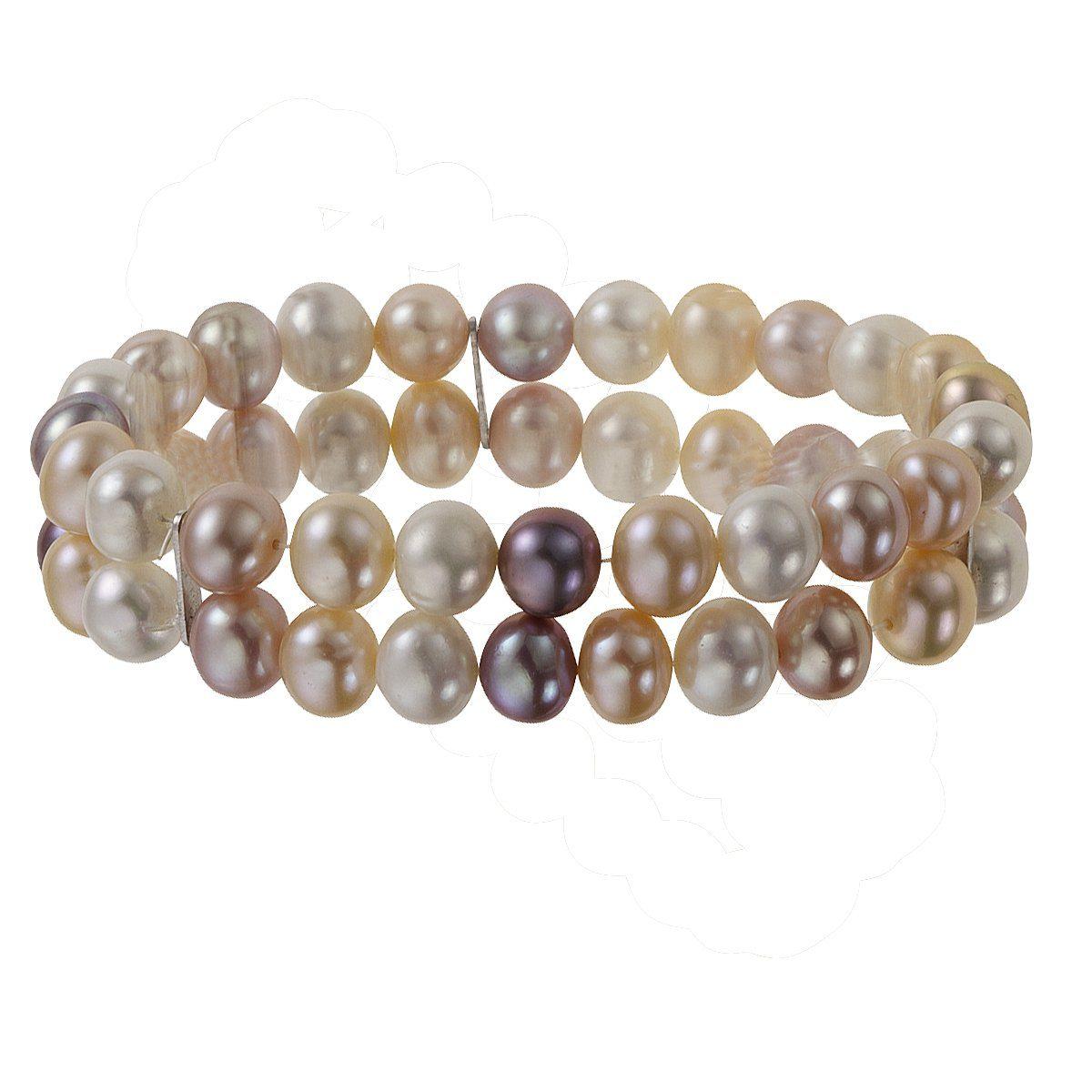 Zeeme Armband »925/- Sterling Silber zweireihig«
