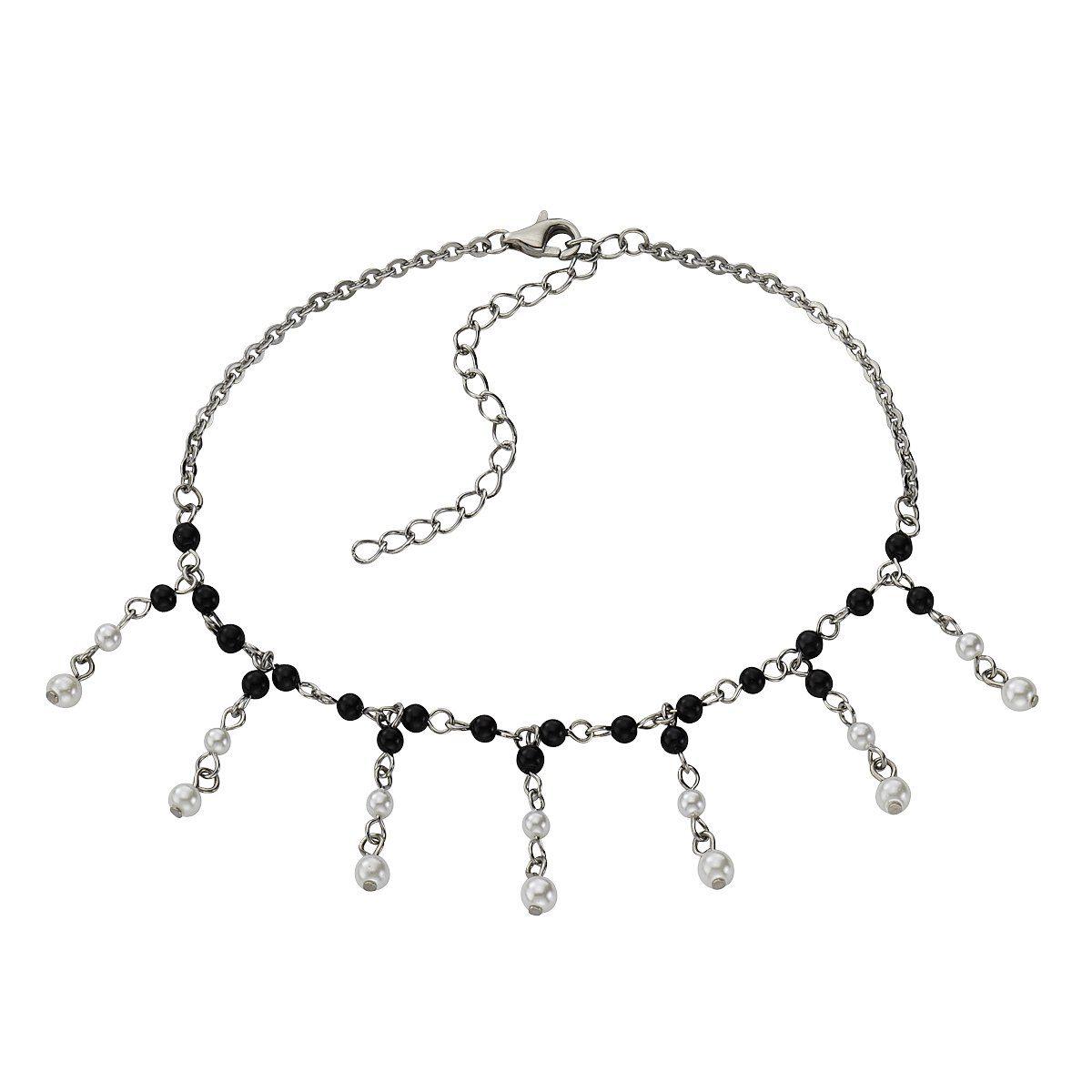 Zeeme Fußkette »Edelstahl mit Perle«