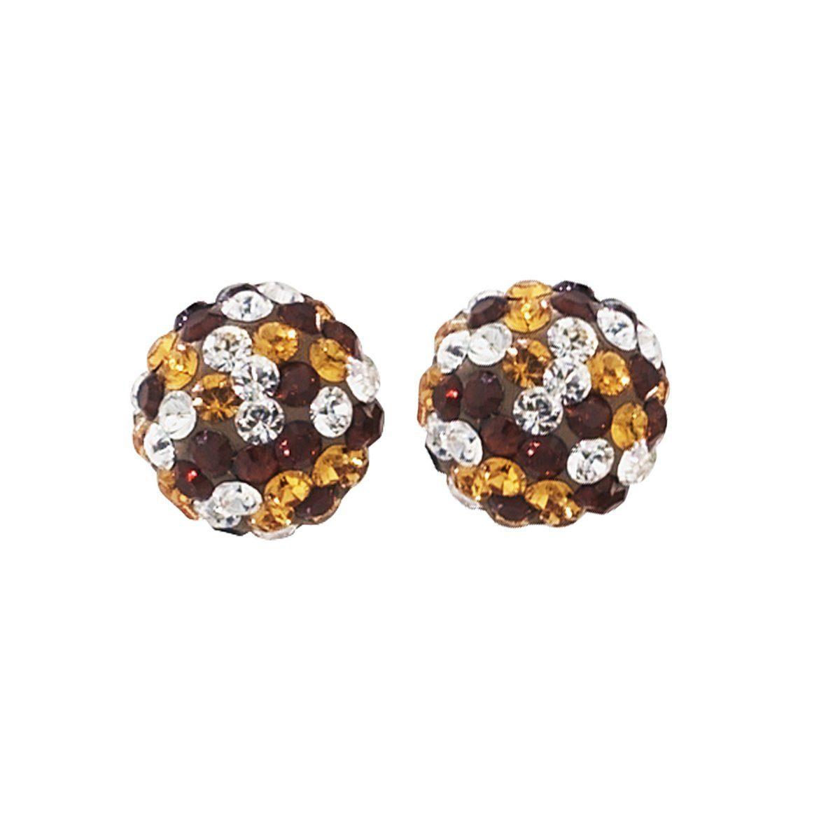 Crystelle Ohrstecker »375/- Gelbgold Swarovski Kristalle«