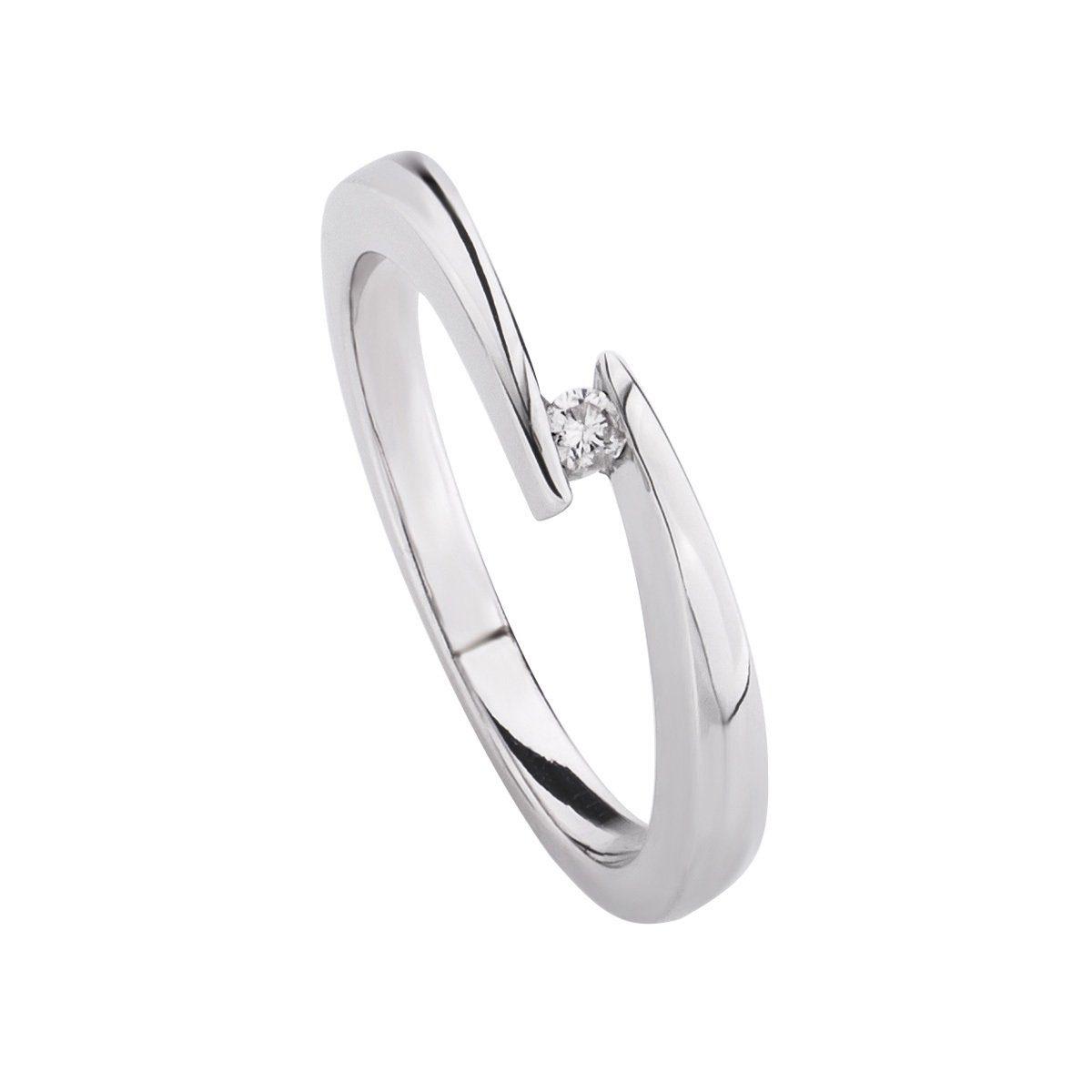CELESTA Ring »925/- Silber 1x Diamant« - broschei