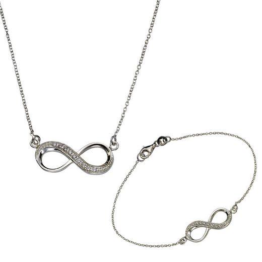 Zeeme Set Collier + Armband »925/- Sterling Silber«
