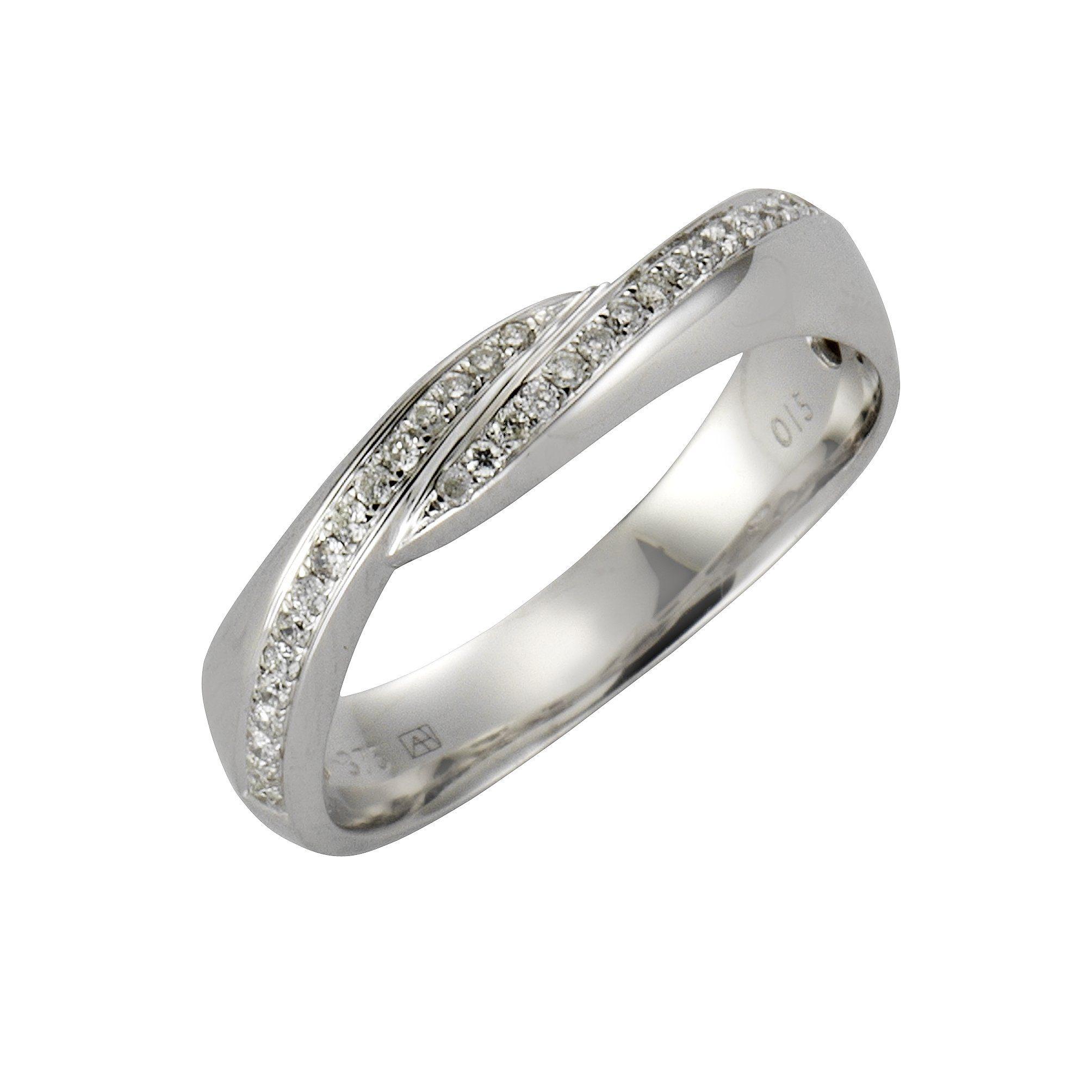 Diamonds by Ellen K. Ring »375/- Weißgold Brillant 0,15ct.«