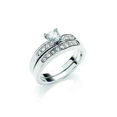 Buckley London Ring »rhodiniert mit Kristallen«