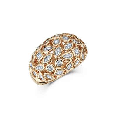 Buckley London Ring »rotvergoldet mit Zirkonia«