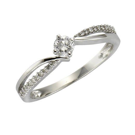 Diamonds by Ellen K. Ring »585/- Weißgold Diamant 0,25ct.«