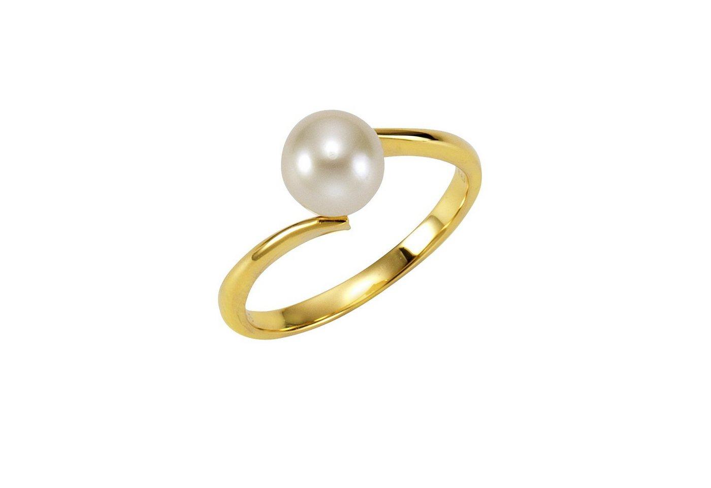 Fascination by Ellen K. Ring »375/- Gelbgold Perle weiß« | Schmuck > Ringe > Goldringe | Gelb | Fascination by Ellen K.