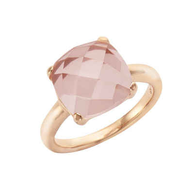 Jamelli Ring »925/- Sterling Silber rotverg. mit Rosenquarz«