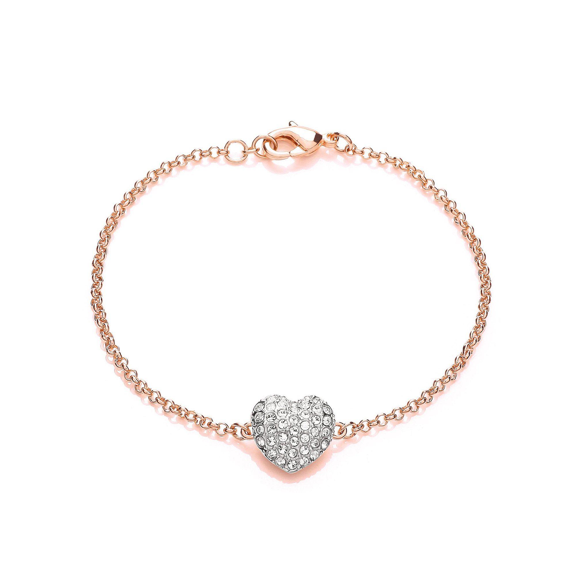 Buckley London Armschmuck »roséfarben Herz mit Kristallen«
