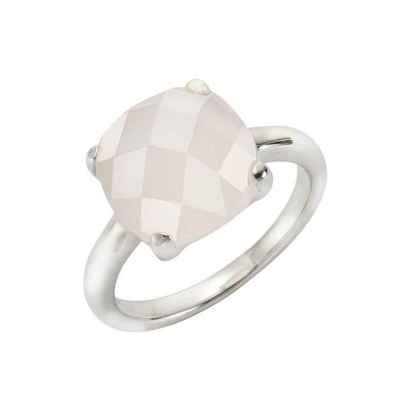 Jamelli Fingerring »925/- Sterling Silber rhodiniert mit Mondstein«, Ring