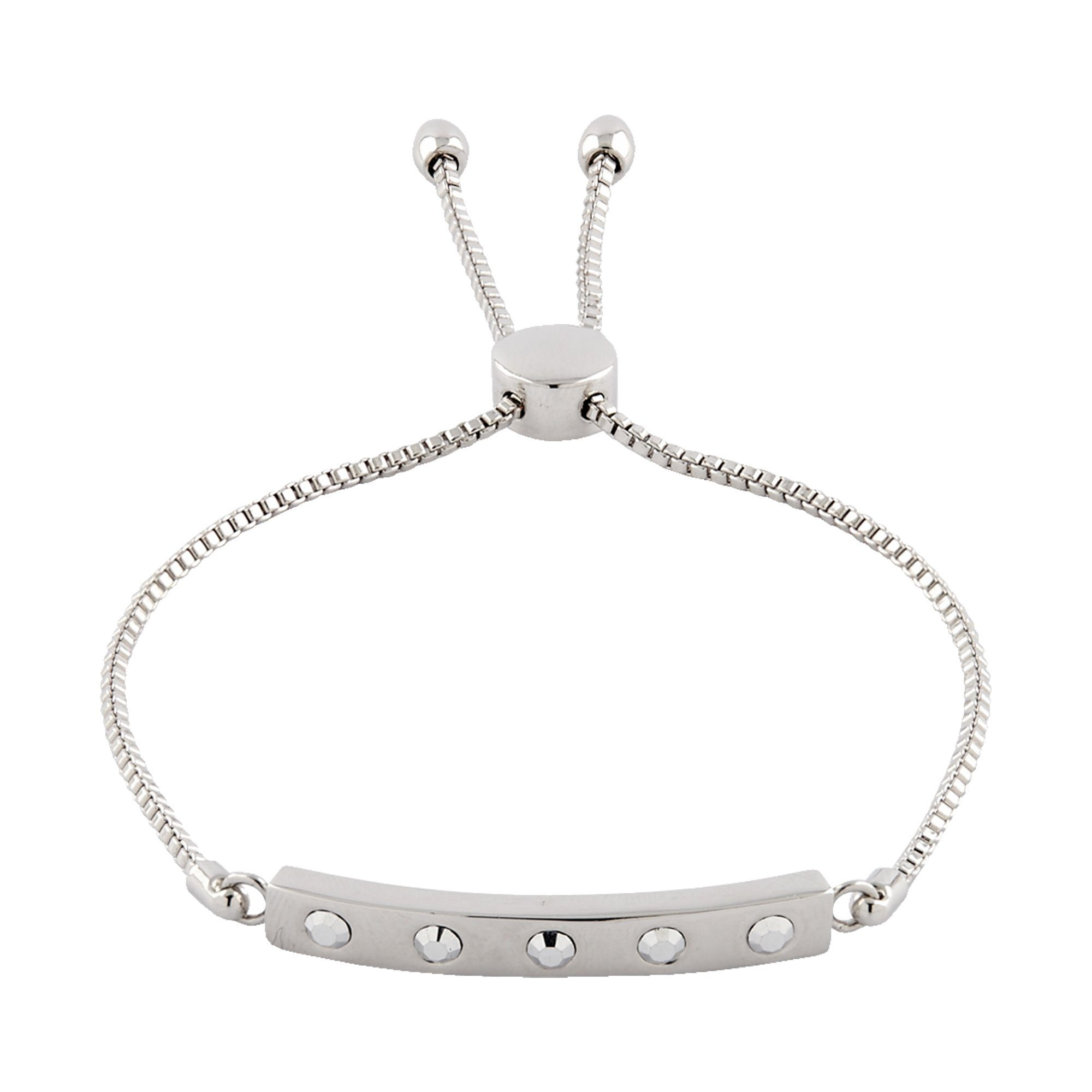 Buckley London Armschmuck Messing rhodiniert mit Kristallen