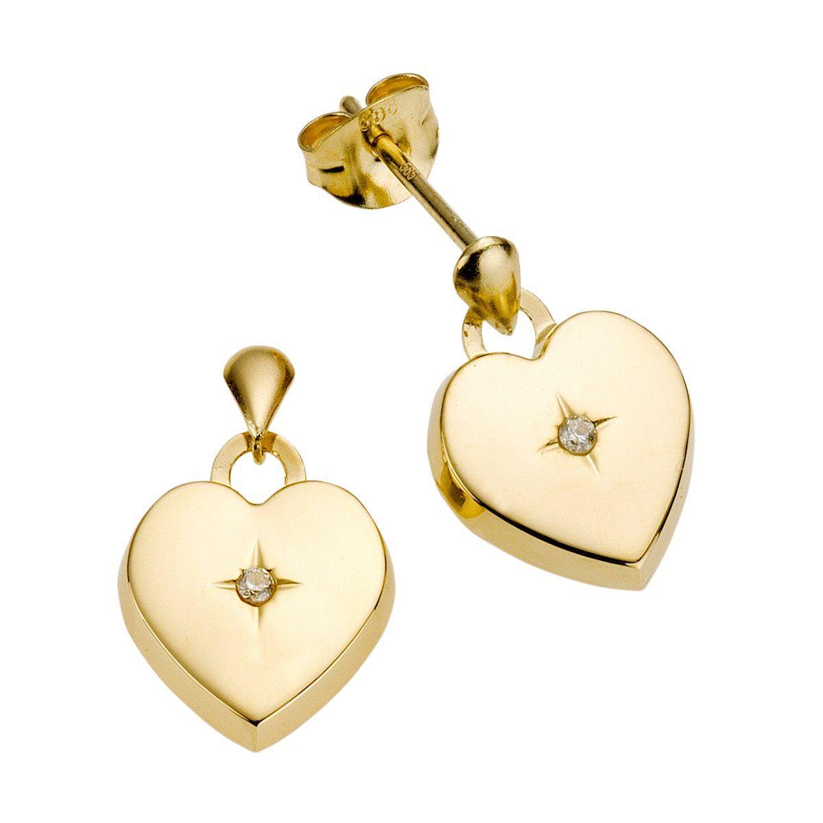 Diamonds by Ellen K. Ohrhänger 585/- Gold mit Diamant