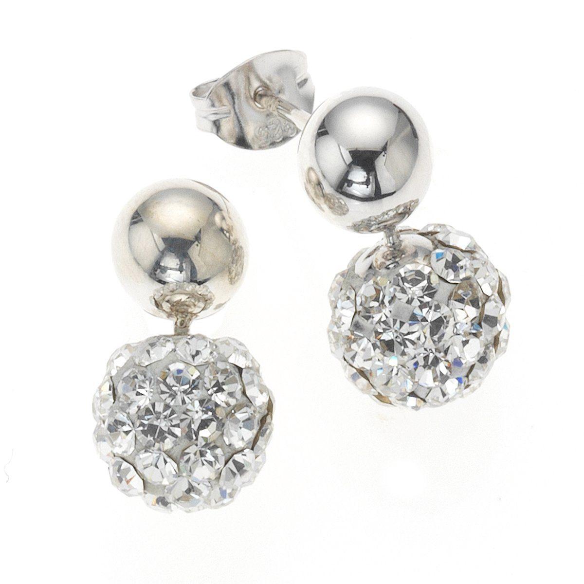 Crystelle Ohrhänger »925/- Sterling Silber Swarovski Kristall«