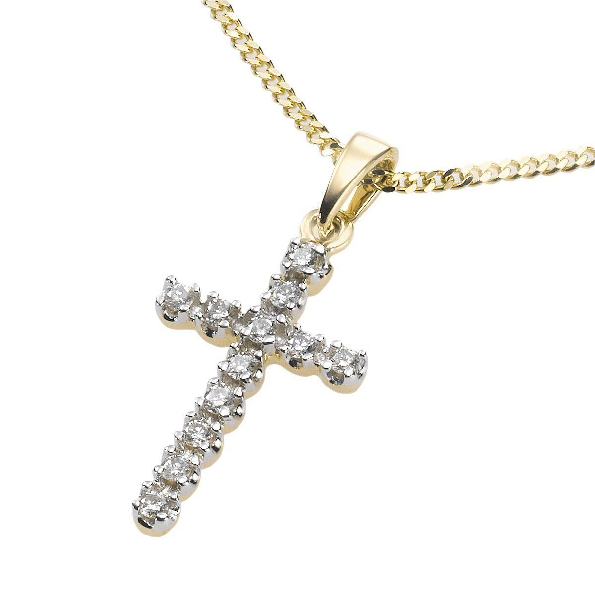 Diamonds by Ellen K. Anhänger mit Kette »585/- Gelbgold Diamant 0,12ct.«