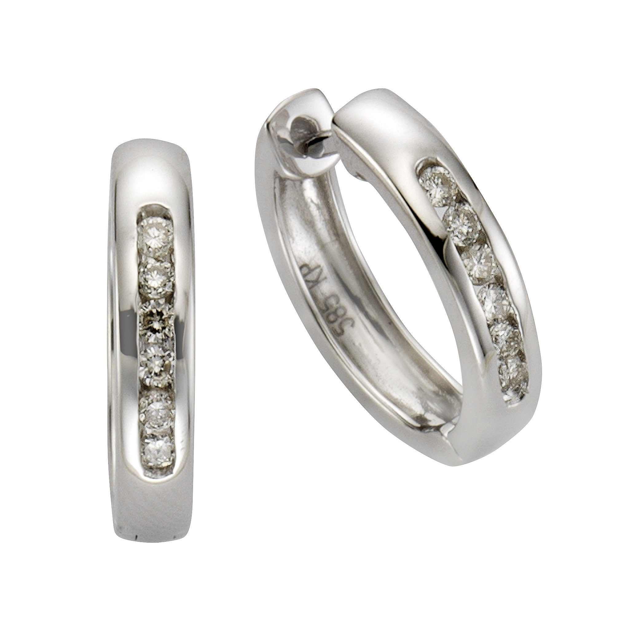 Diamonds by Ellen K. Creolen »585/- Weißgold Brillant 0,25ct.«