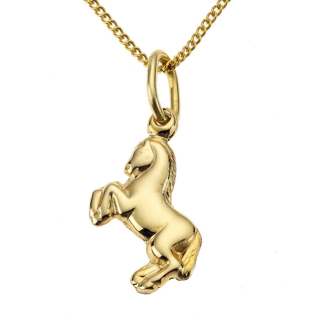 Zeeme Anhänger mit Kette »333/- Gelbgold Pferd«
