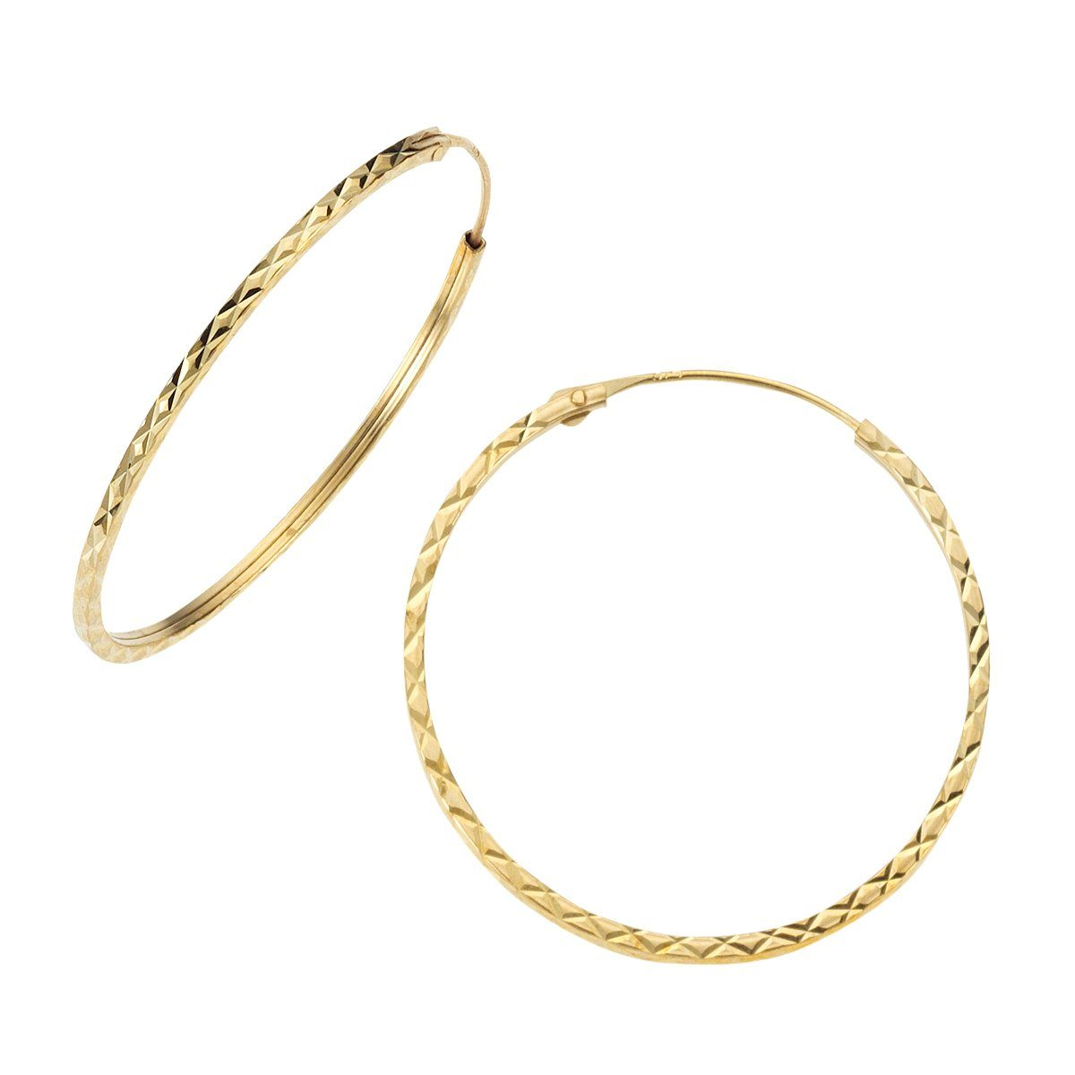 Fascination by Ellen K. Creole »375/- Gelbgold diamantiert 30mm«