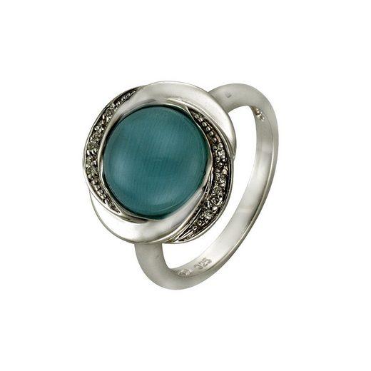 Zeeme Ring »925/- Sterling Silber syn. Katzenauge«