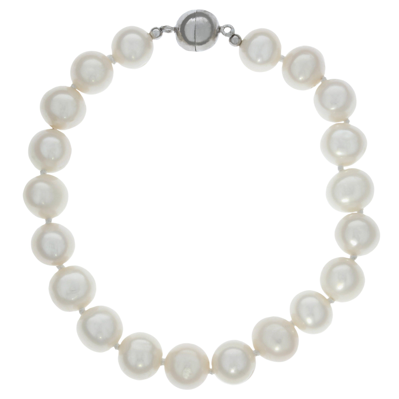 Zeeme Armband »925/- Sterling Silber Perlarmband 19cm«