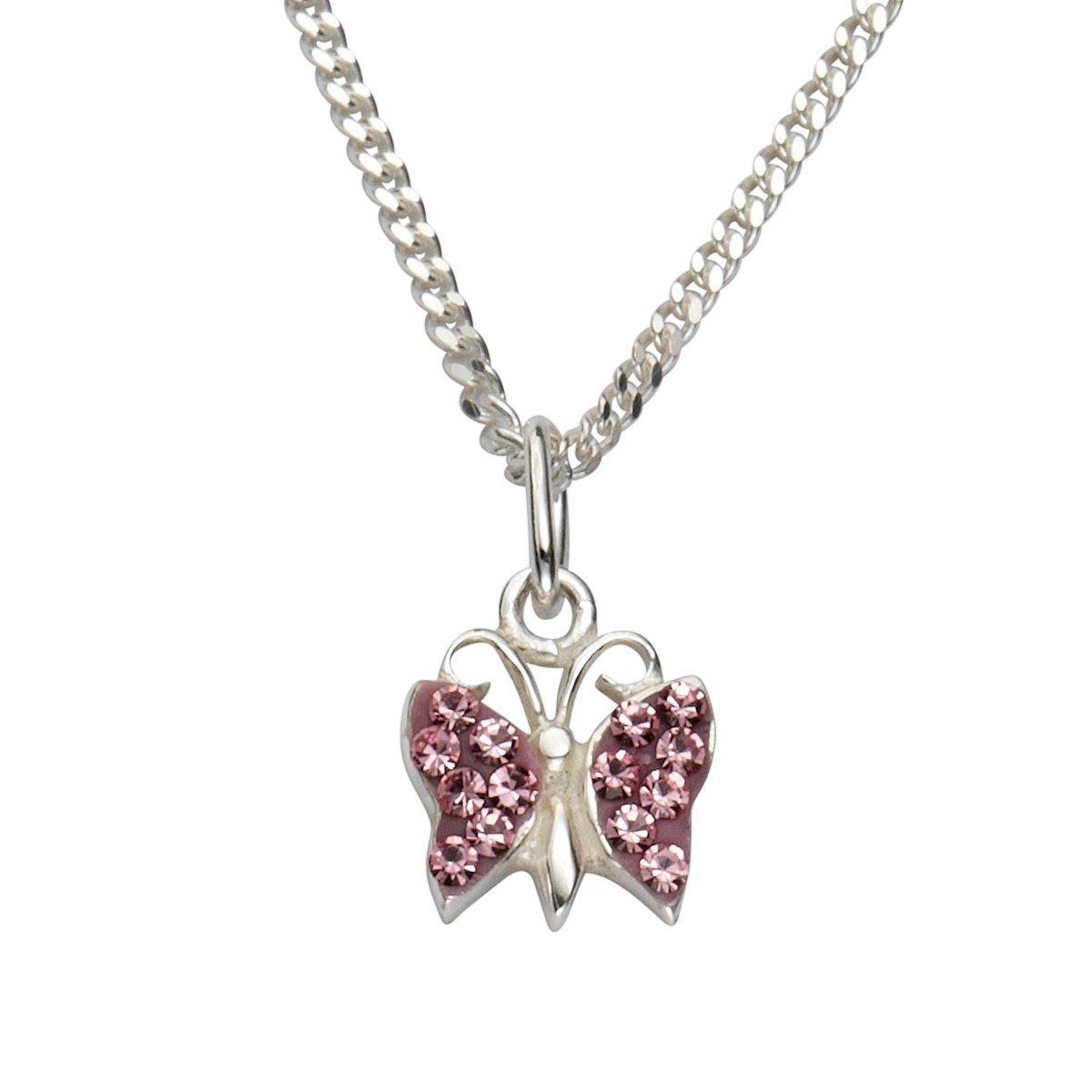 Zeeme Anhänger mit Kette »925/- Sterling Silber Kristall pink«