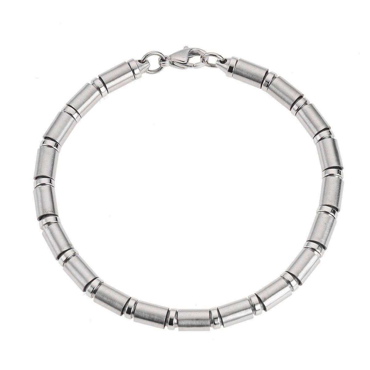 Zeeme Armband »Edelstahl glanz matt 21cm lang«