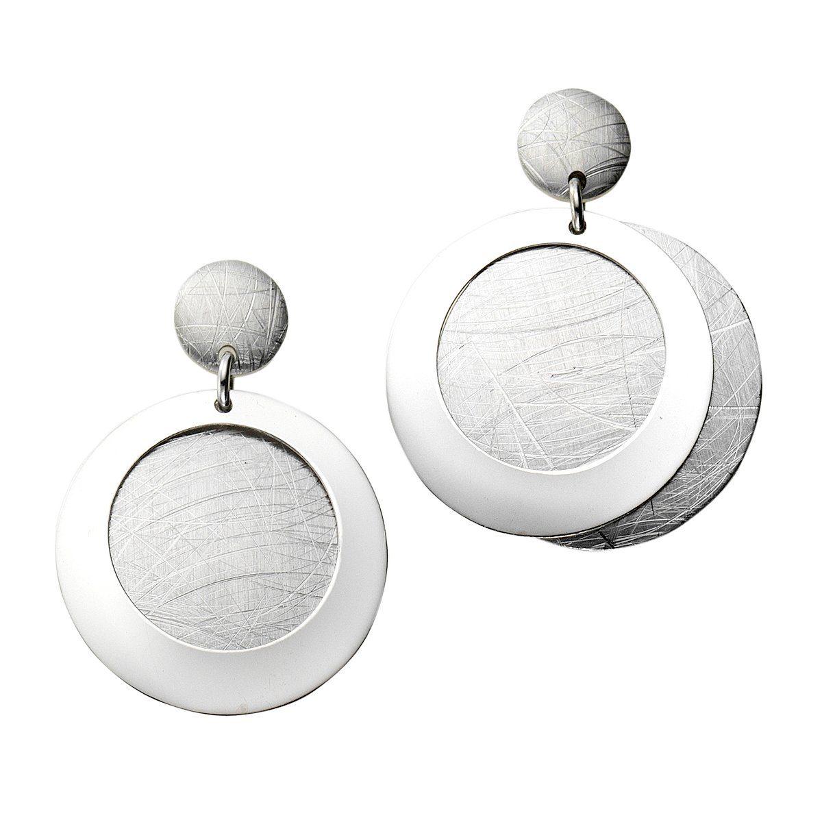 Zeeme Ohrhänger »925/- Sterling Silber glanz matt«