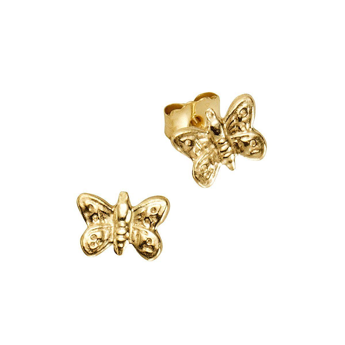 Zeeme Ohrstecker »333/- Gelbgold Schmetterlinge«