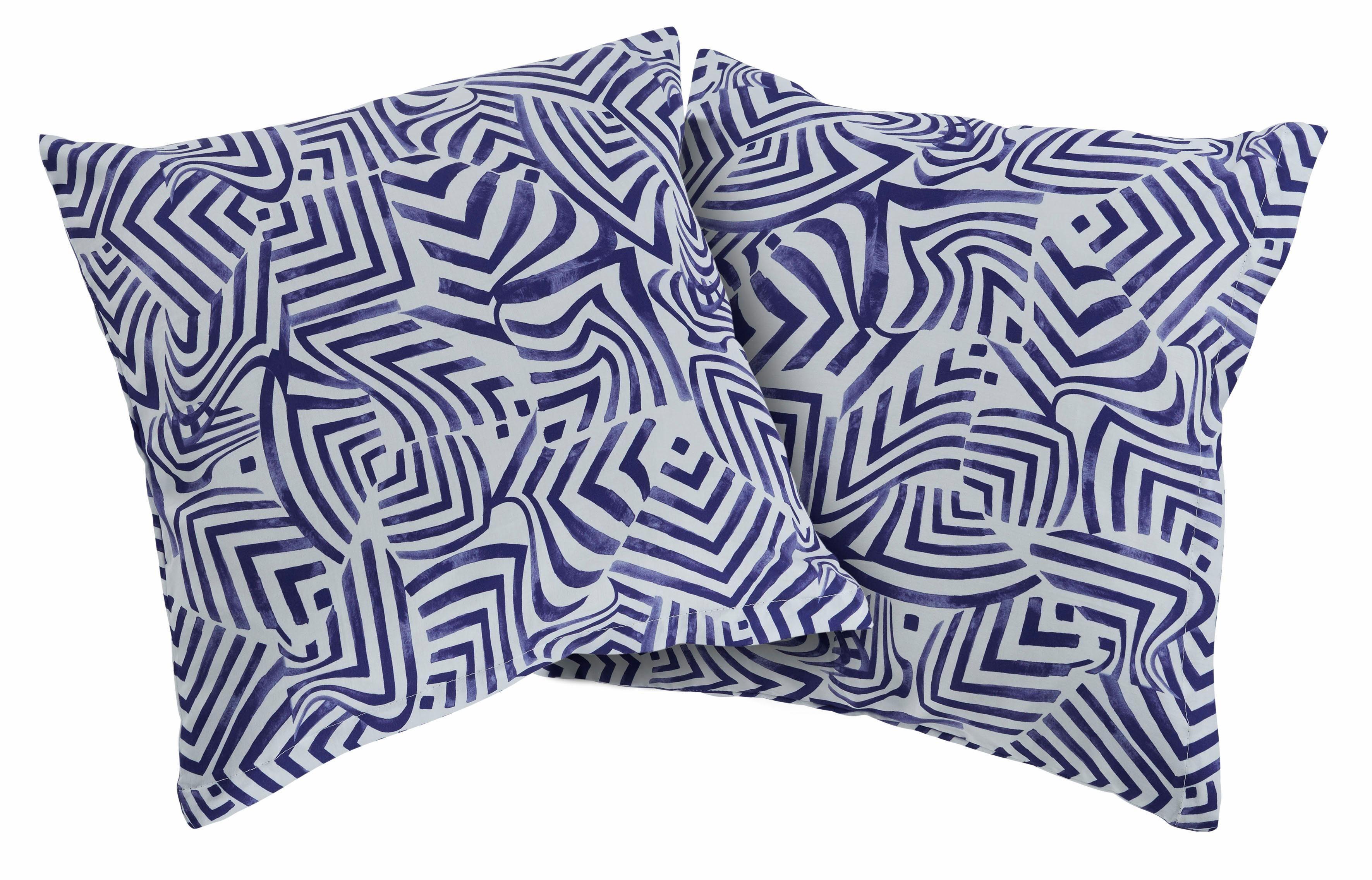 Kissenhüllen »Blue waves«, Guido Maria Kretschmer Home&Living, mit modernem Muster (2 Stück)