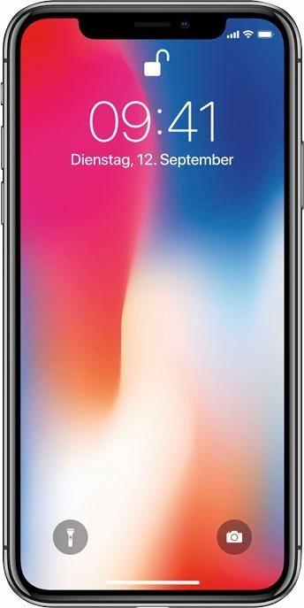 iPhone X Smartphone (14,7 cm/5,8 Zoll, 64 GB Speicherplatz, 12 MP Kamera)