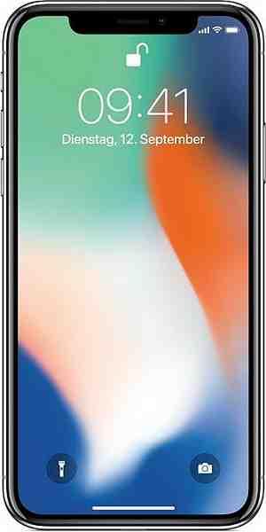 Apple iPhone X Smartphone (14,7 cm/5,8 Zoll, 64 GB Speicherplatz, 12 MP Kamera)