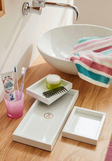 GMK Home & Living Deko-Lacktablett Leelo (3-tlg. Set) weiß | 00711970385096