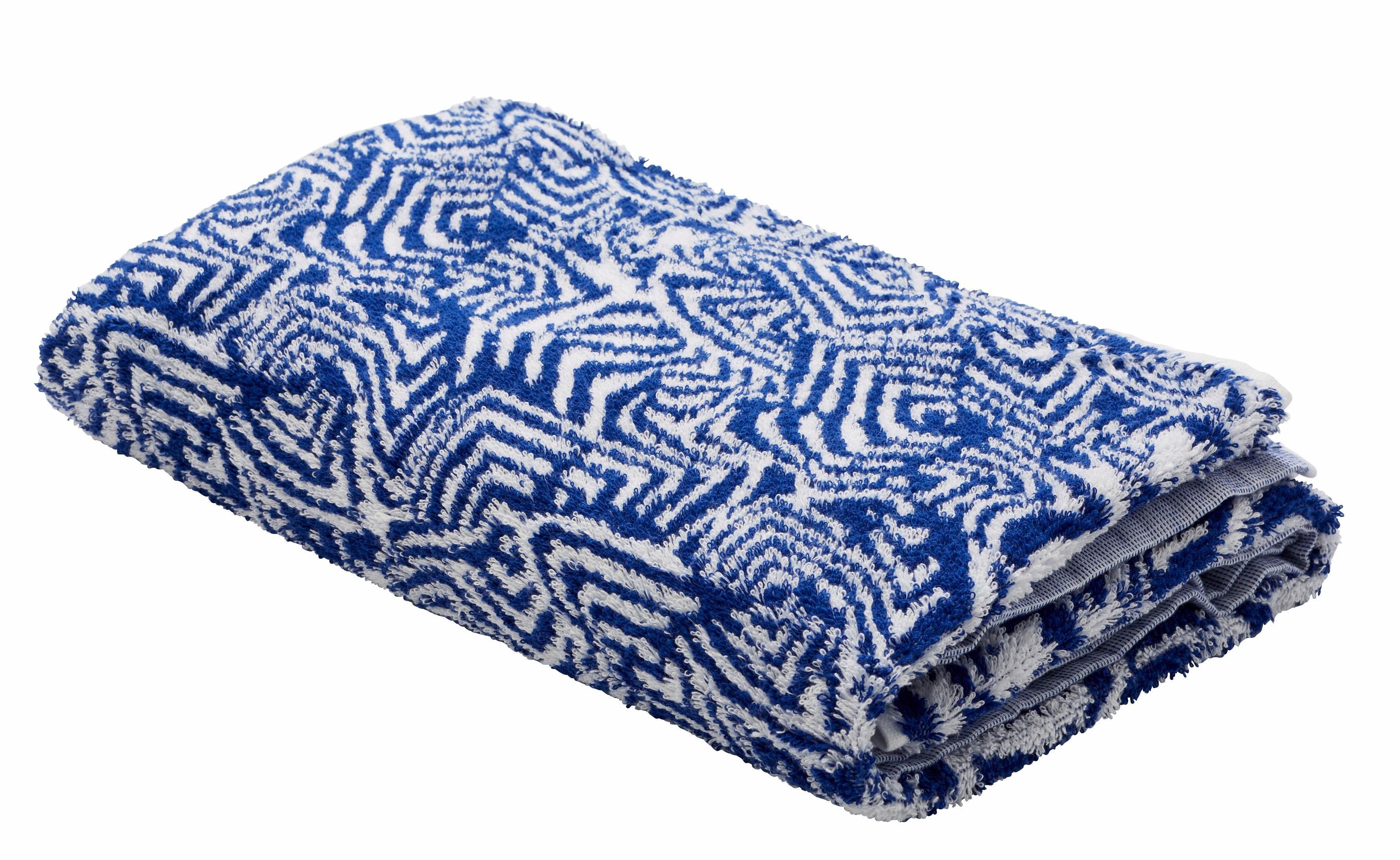 Badetuch, GMK Home & Living, »Serie Blue waves«, mit modernem Muster | Bad > Handtücher > Badetücher | Baumwolle | Guido Maria Kretschmer Home&Living