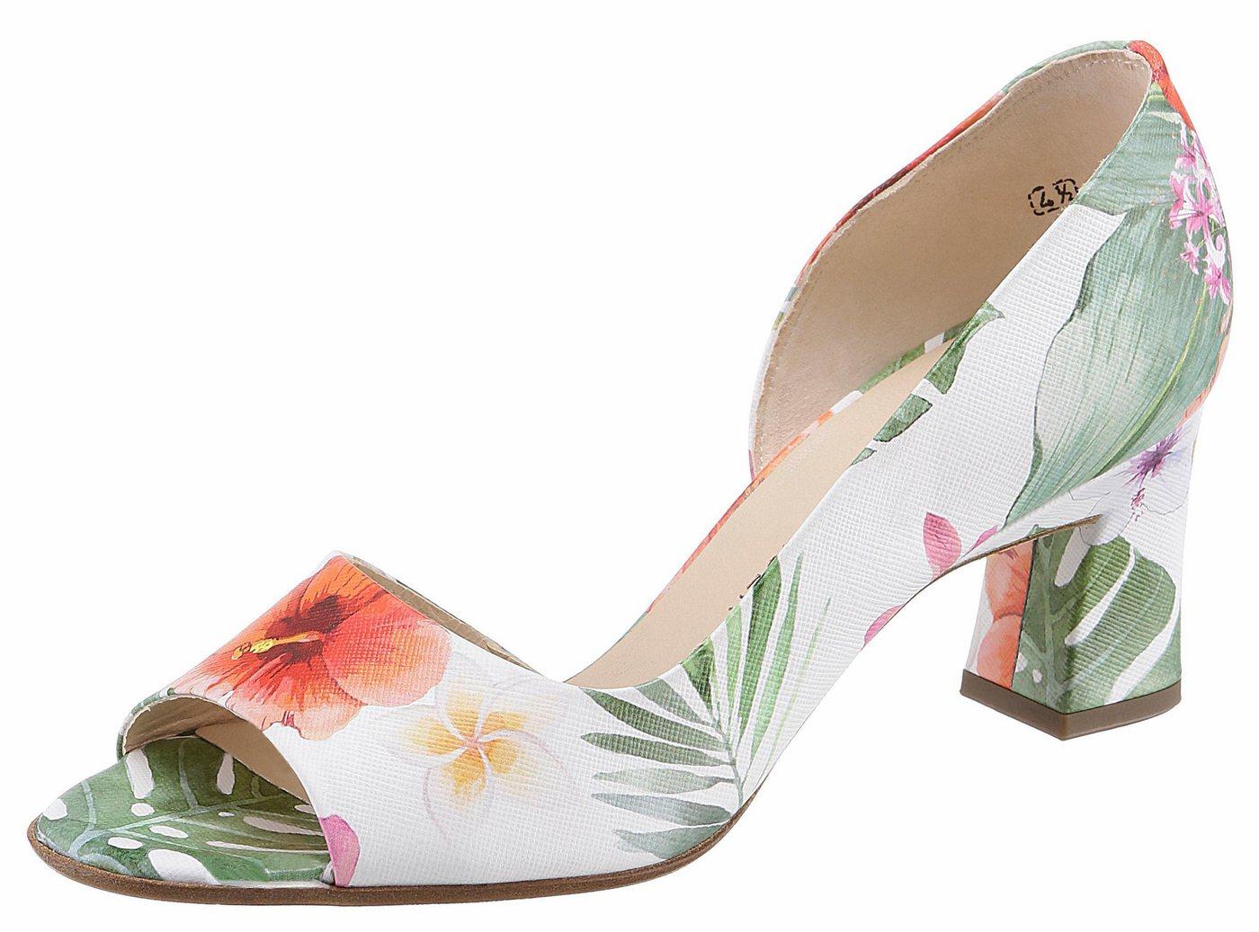 Damen Peter Kaiser Elana Peeptoepumps mit Blumendruck bunt,mehrfarbig | 04060102152805