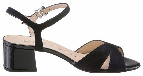 Peter Kaiser Celana Sandalette Heel, Covered With Patent Leather