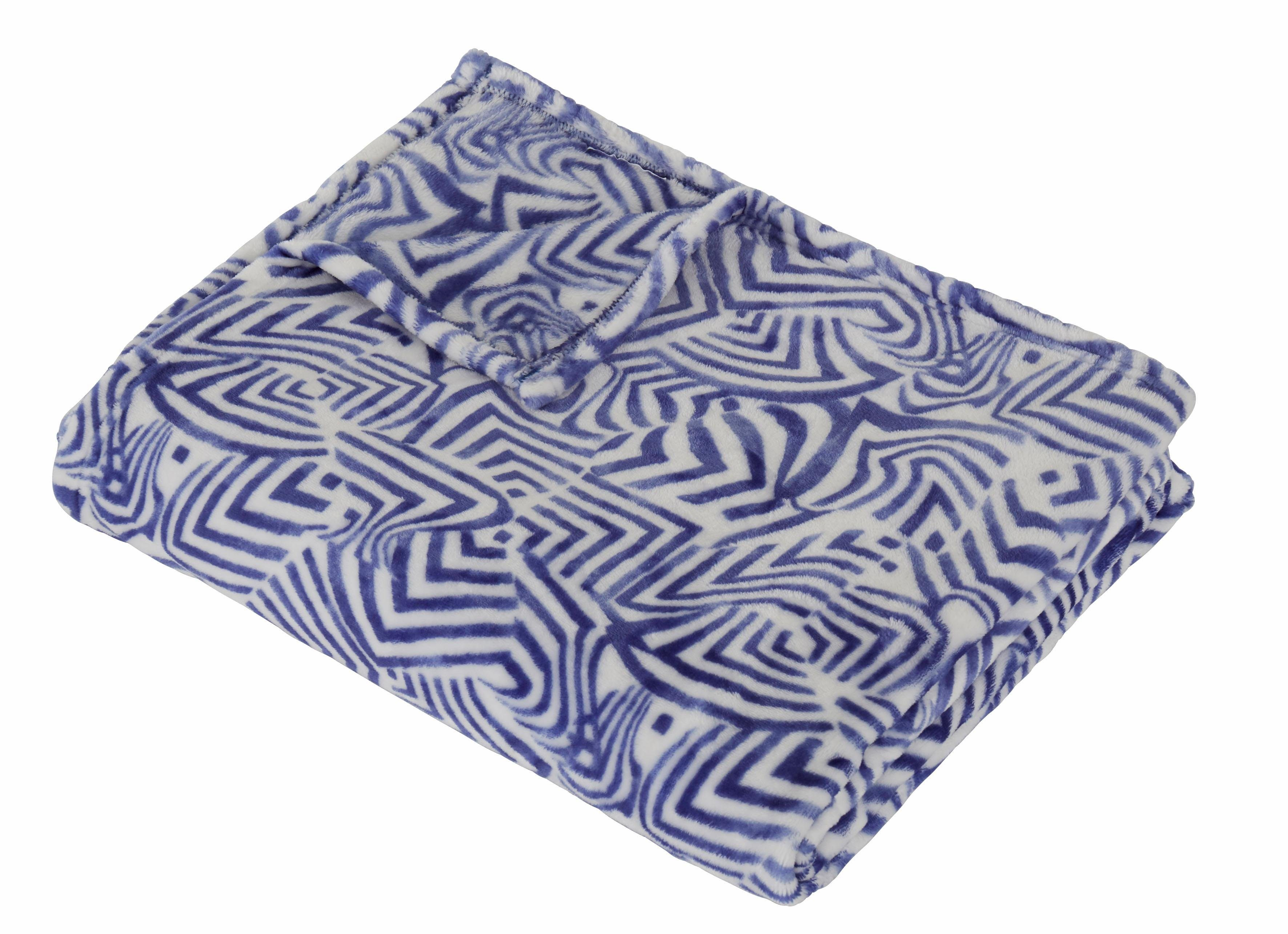 Wohndecke »Blue waves«, Guido Maria Kretschmer Home&Living, mit modernem Muster