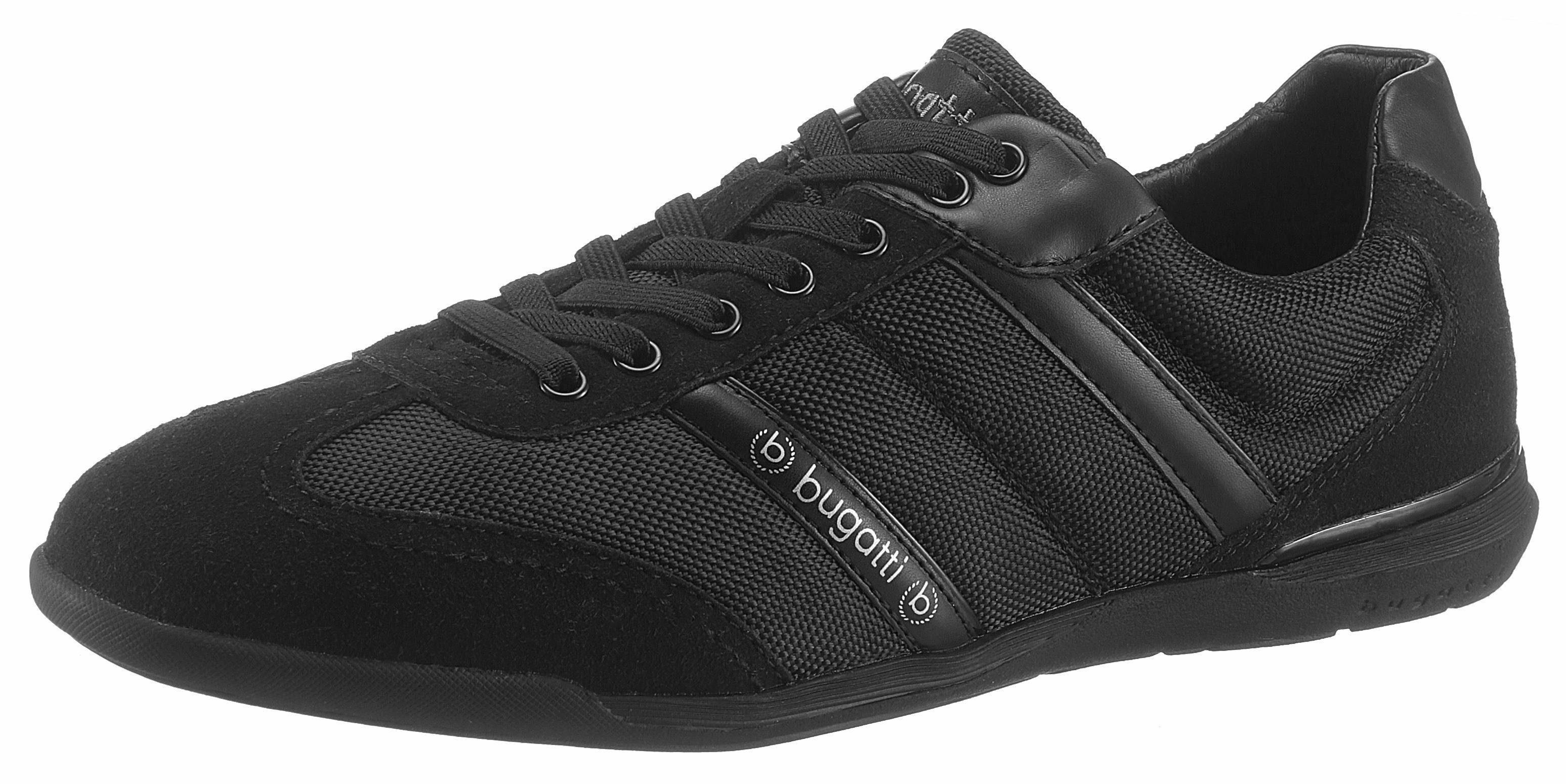 Bugatti Sneaker, im Materialmix online kaufen  schwarz