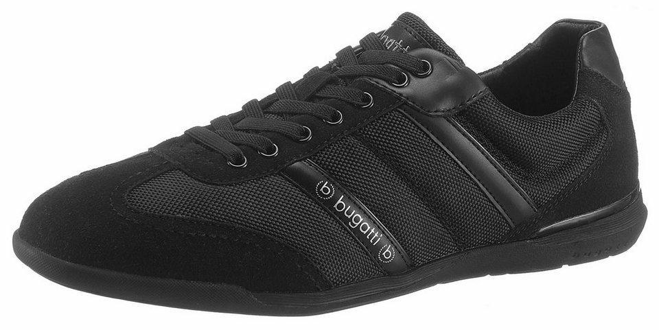 5a4274dc69a0 Bugatti Sneaker im Materialmix, Sportiver Schnürschuh aus Textil und ...