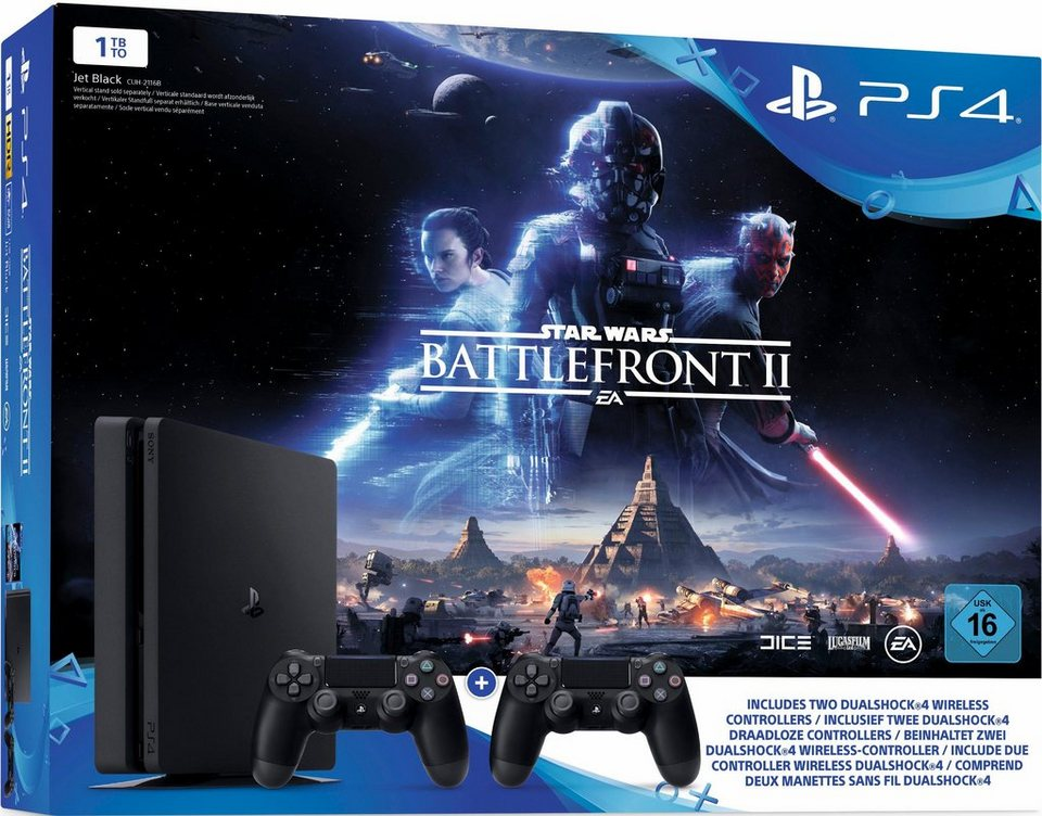 playstation 4 ps4 1tb slim star wars battlefront ii. Black Bedroom Furniture Sets. Home Design Ideas
