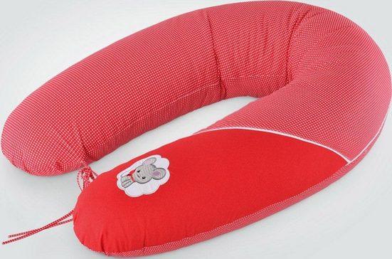 SEI Design Stillkissen »Maus rot EPS«, mit hochwertiger Stickerei mit niedlichen Tiermotiven