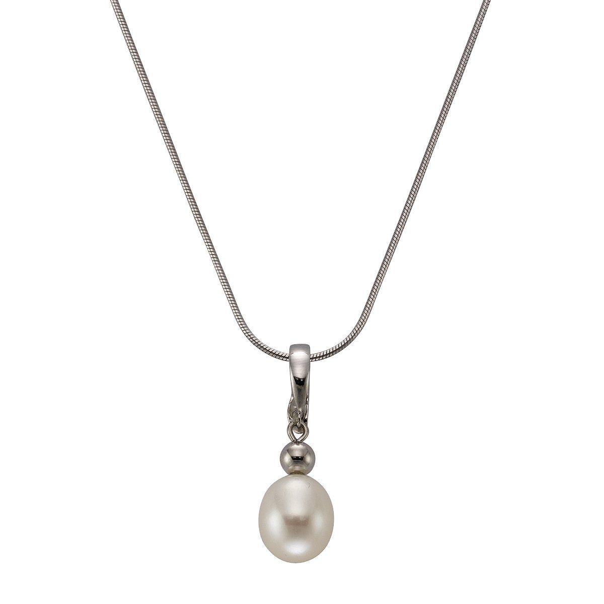 Zeeme Anhänger mit Kette »925/- Sterling Silber Perle oval«