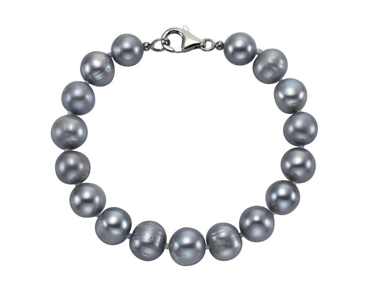 Zeeme Armband »925/- Sterling Silber Perle grau«   Schmuck > Armbänder > Silberarmbänder   Grau   Zeeme
