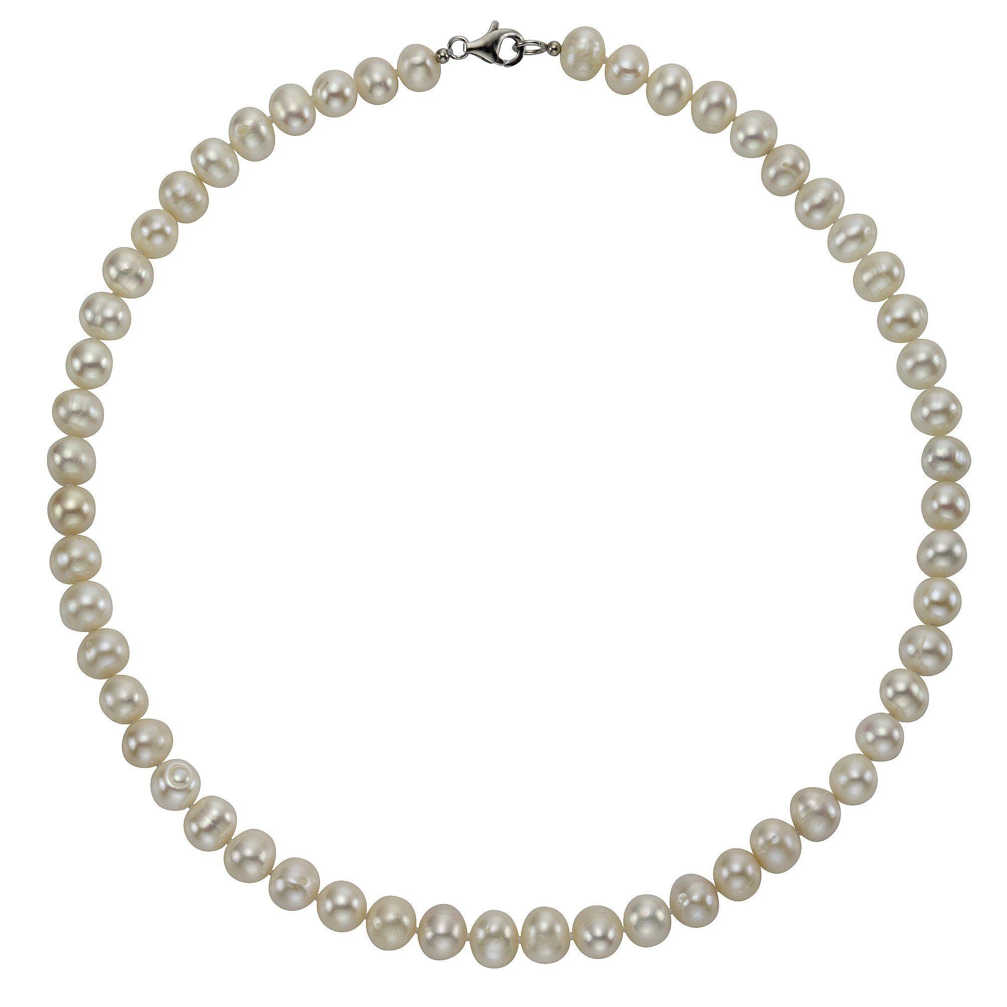 Zeeme Collier »925/- Sterling Silber Perle weiß«