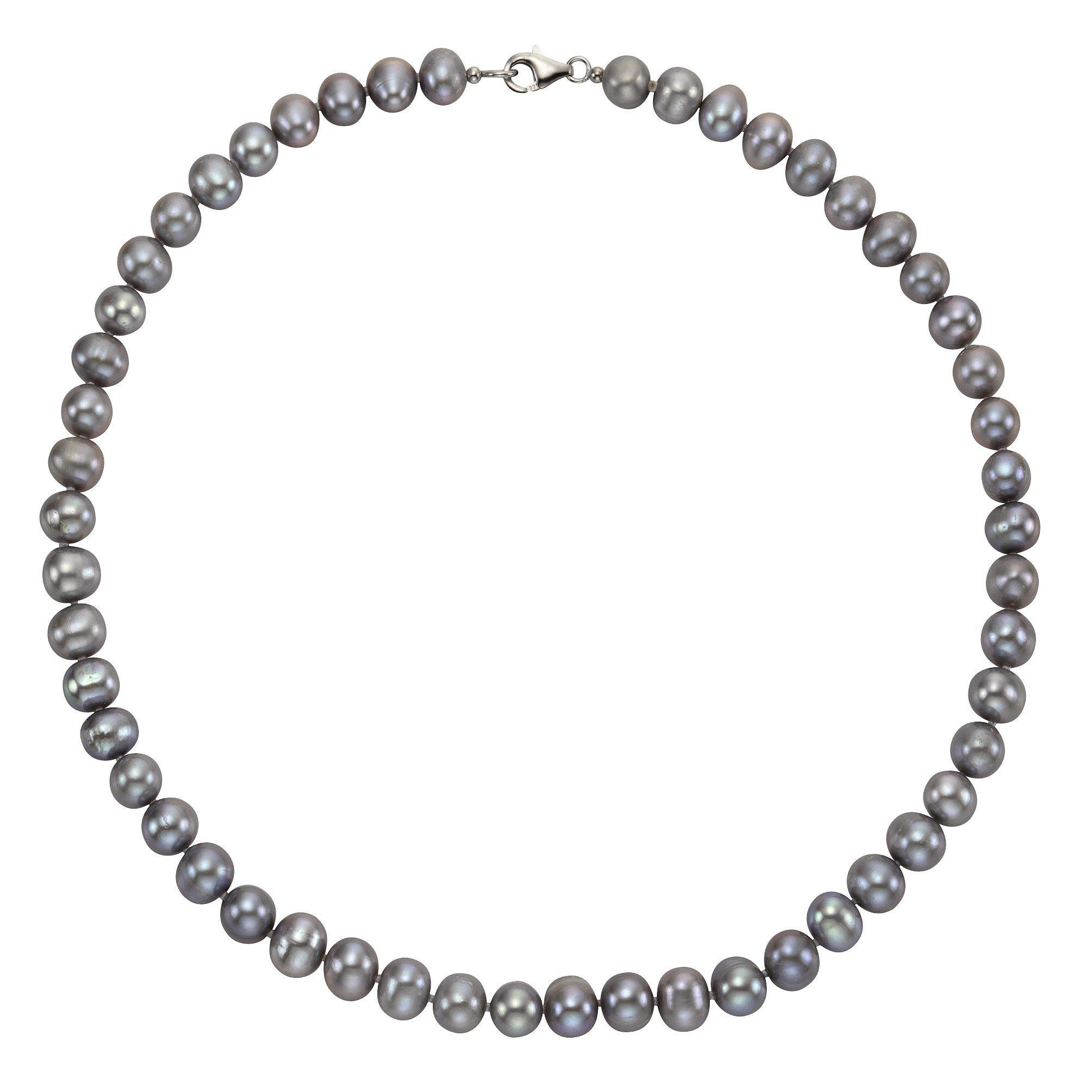 Zeeme Collier »925/- Sterling Silber Perle grau«