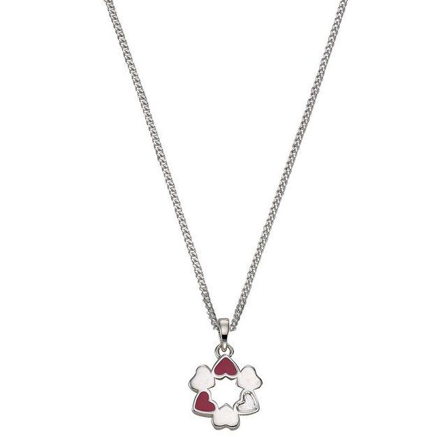 Zeeme Anhänger mit Kette »925/- Sterling Silber Lack Herzen« | Schmuck > Halsketten > Herzketten | Bunt | Zeeme