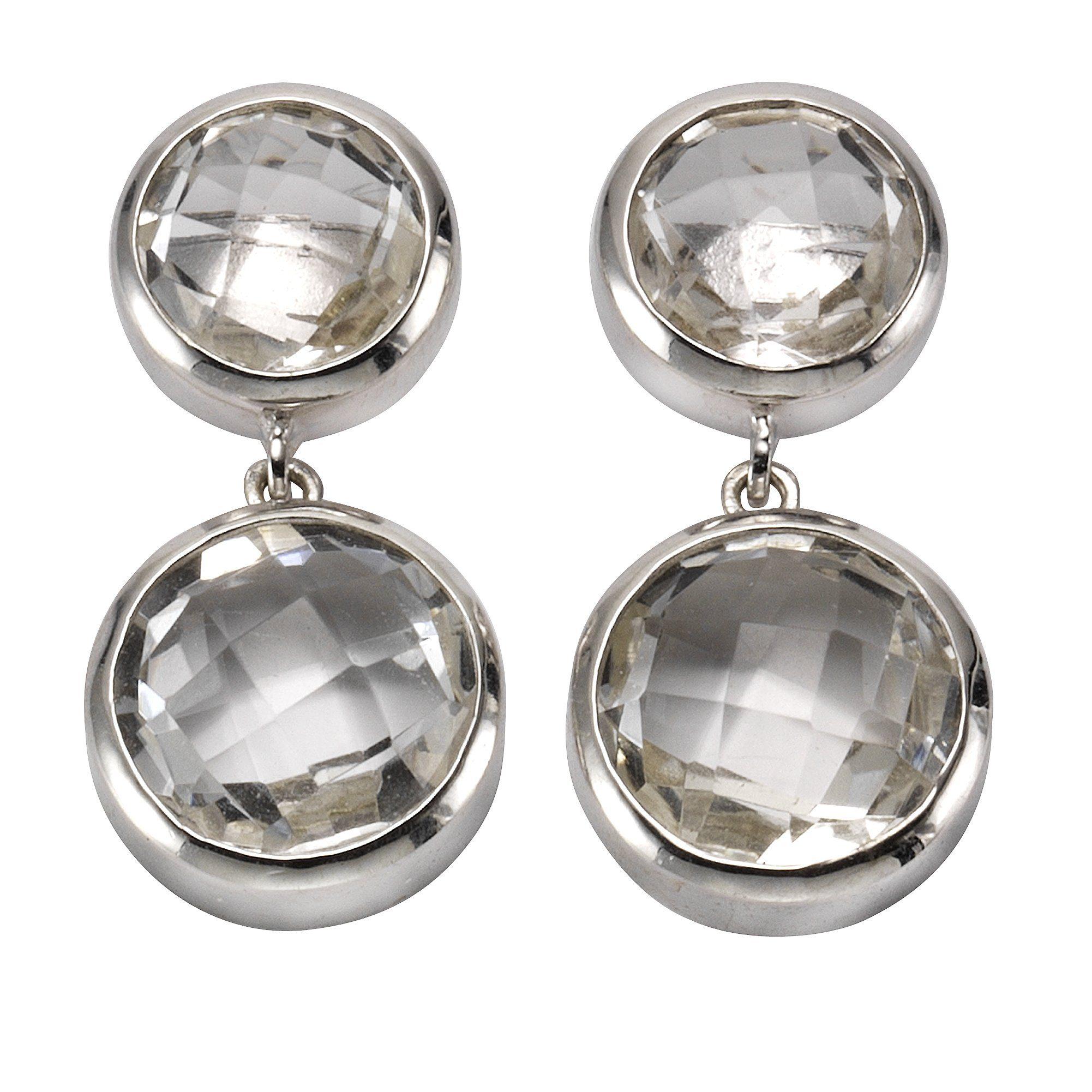 Zeeme Ohrstecker »925/- Sterling Silber Bergkristall«